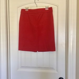 J Crew Burnt Orange Wool Pencil Skirt